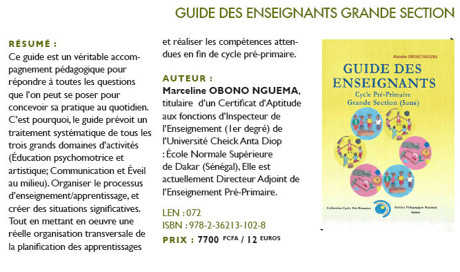 Guide des enseignants grande section